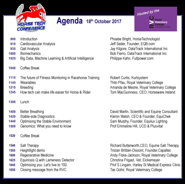 HorseTech Conference Agenda