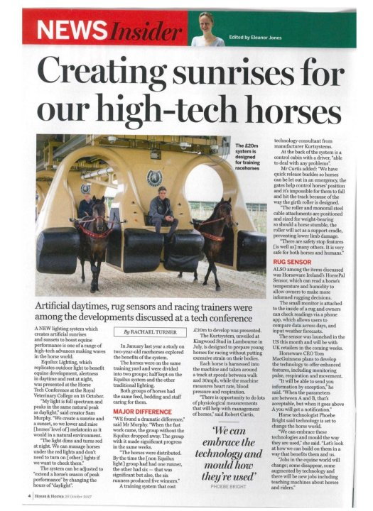 HorseAndHound HorseTech Conference Article