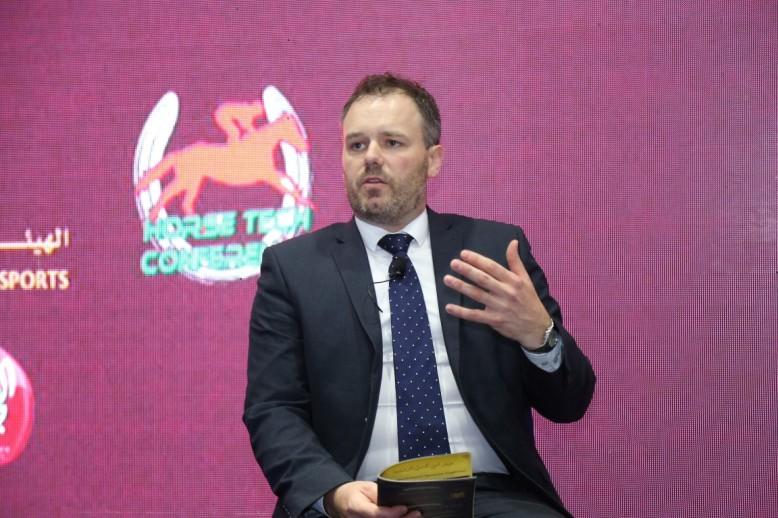 David Doherty talking HorseTech Conference Dubai